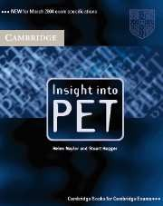 Insight into PET (Preliminary English Test) Student's Book without answers